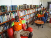 You know. Just chillin' at the Kigali Public Library.