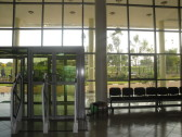 The front entrance, from the inside.
