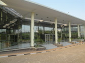 The main entrance to the Kigali Public Library.