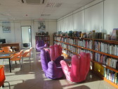 The children's reading room. (Don't tell anyone, but this is my favorite room in the whole library.)