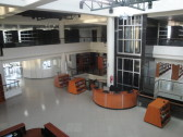 Looking at the entrance hall from the third floor.
