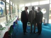 The Kigali Public Library has partnered with One Laptop Per Child / One Laptop Per Child (OLPC) Rwanda. With me here are visionary OLPC leaders Sergio Romero (OLPC Vice President for Africa) and Bakuramutsa Nkubito (OLPC Coordinator for Rwanda).