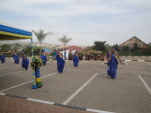 The Kigali Public Library inauguration begins with dancing performed by Rwanda's National Ballet!